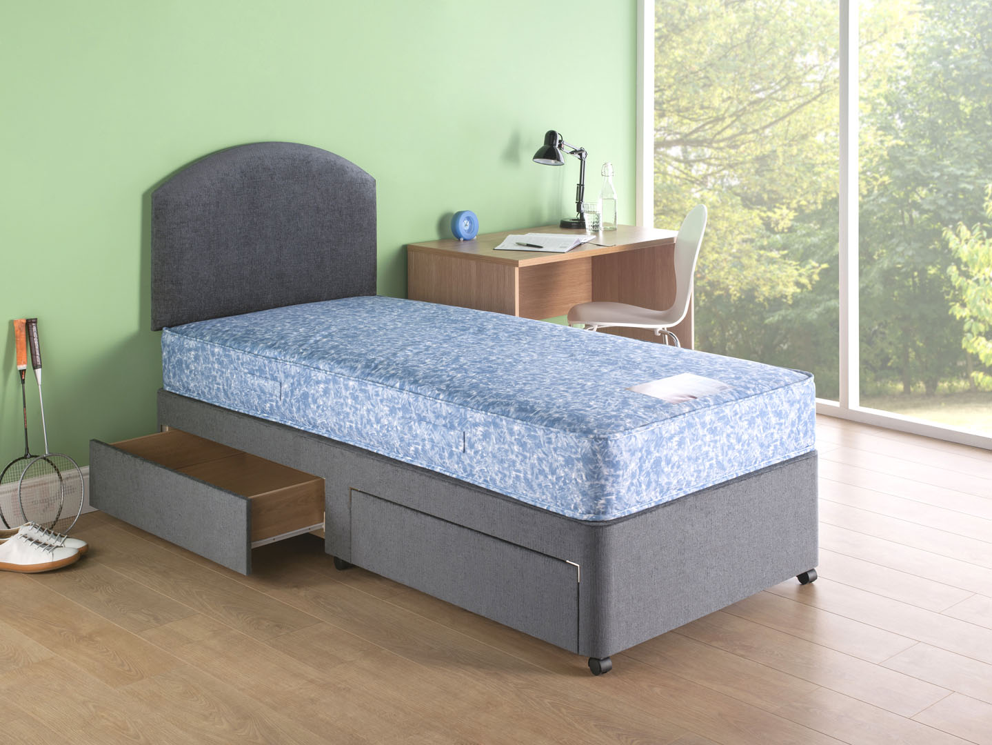 Neptune mattress with drawer base
